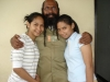 Filep Karma and his two daughters